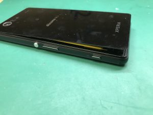 Xperia Z3compact バッテリー膨張