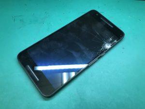 Nexus6P 画面割れ 液晶表示不良